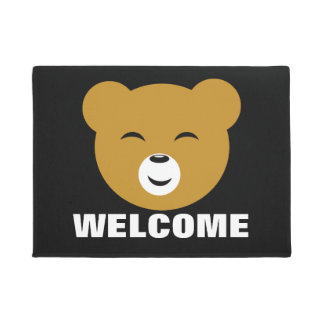 Cara contenta linda del oso de Kawaii
