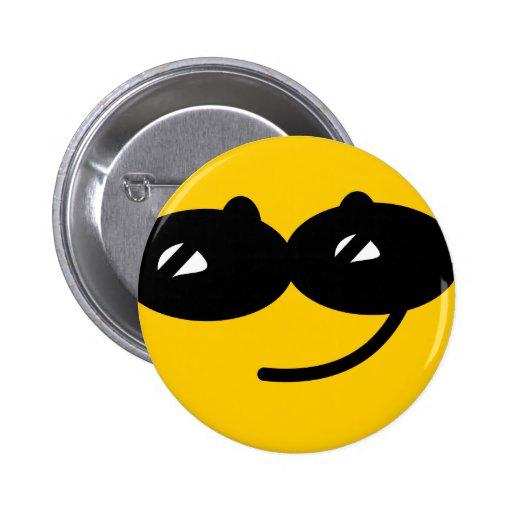 Cara coqueta del smiley de las gafas de sol pin