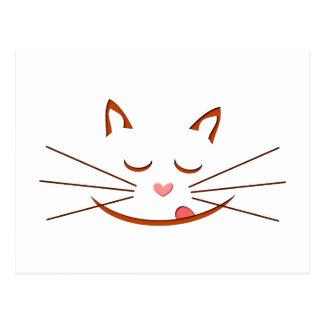 Cara de gato cat face postal