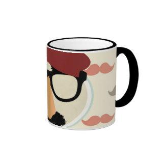 Cara de la boina del tubo de los vidrios del disfr taza de café
