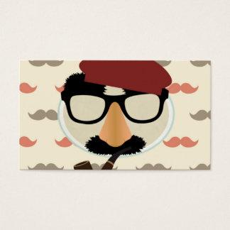 Cara de la boina del tubo de los vidrios del tarjeta de negocios