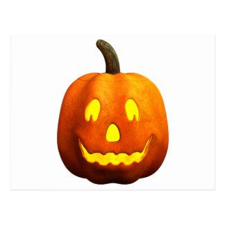 Cara de la calabaza de Halloween - feliz Postal