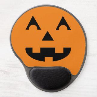 Cara de la calabaza de la linterna de Halloween Alfombrilla Gel