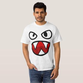 Cara de la camiseta del demonio