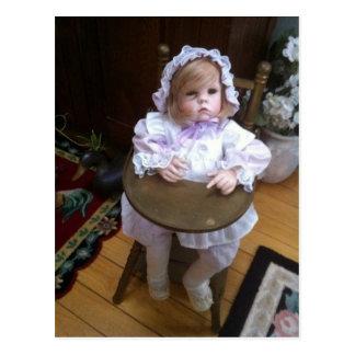 Cara de la muñeca postal