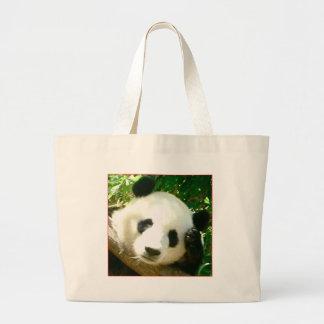 Cara de la panda bolsa lienzo