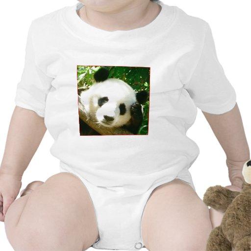 Cara de la panda traje de bebé