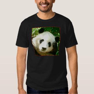 Cara de la panda camisetas