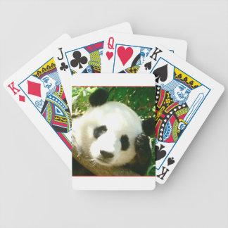 Cara de la panda cartas de juego