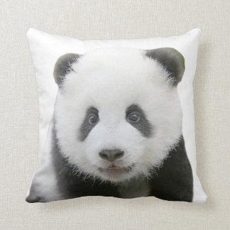 Cara de la panda cojín decorativo