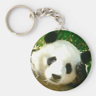 Cara de la panda llavero redondo tipo chapa
