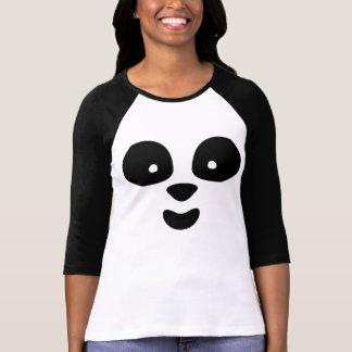 Cara de la panda [mujeres] camiseta