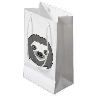 Cara de la pereza bolsa de regalo pequeña