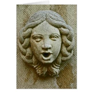 Cara de piedra tarjeta pequeña