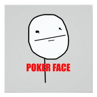 Cara de póker Meme Invitación 13,3 Cm X 13,3cm