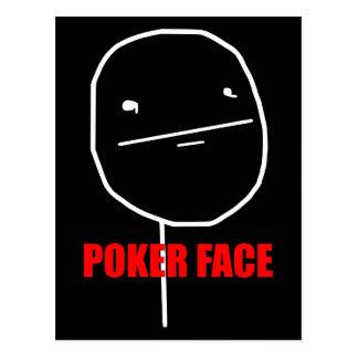 Cara de póker Meme Tarjeta Postal