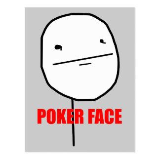 Cara de póker Meme Tarjetas Postales