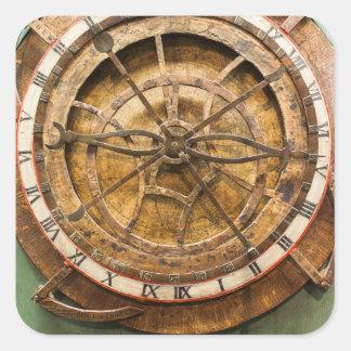 Cara de reloj antigua, Alemania Pegatina Cuadrada