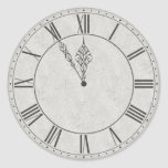Cara de reloj del número romano B&W Pegatina