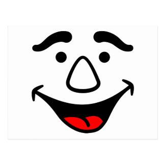 Cara de risa postal