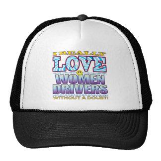 Cara del amor de los conductores de las mujeres gorra