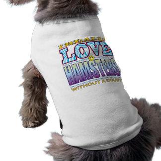 Cara del amor de los hámsteres camiseta sin mangas para perro