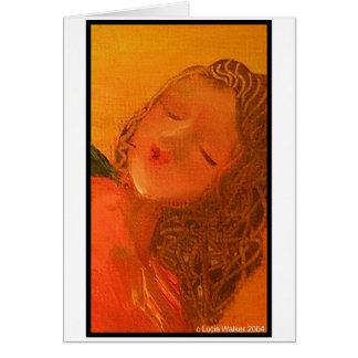 Cara del ángel tarjeta de felicitación