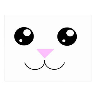 Cara del animal de Kawaii Postal