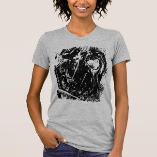 Cara del chica del Grunge - negro Camiseta
