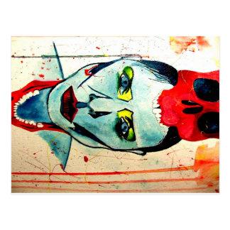 Cara del cráneo postal