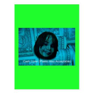 Cara del dinero del amante del efectivo (plástico postal