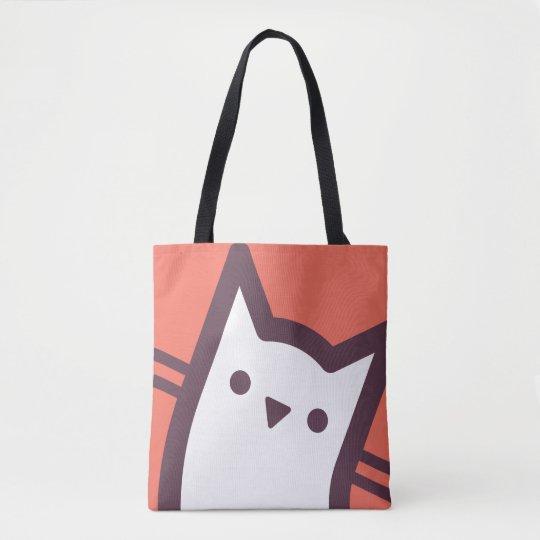 Cara del gato bolso de tela