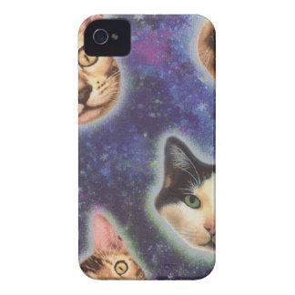 cara del gato - gato - gatos divertidos - espacio funda para iPhone 4
