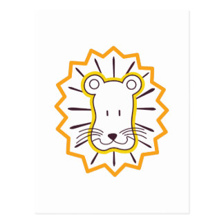 Cara del león postal