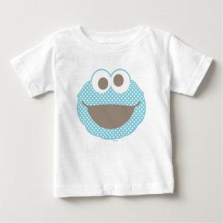 Cara del lunar del monstruo de la galleta camiseta de bebé