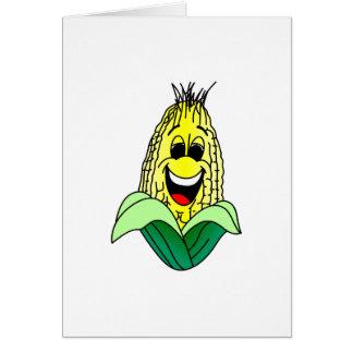 Cara del maíz tarjeta de felicitación