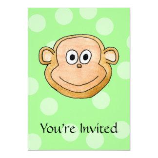 Cara del mono invitación 12,7 x 17,8 cm