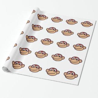 Cara del mono papel de regalo