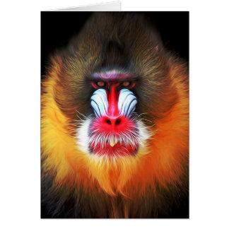 cara del mono tarjeta de felicitación