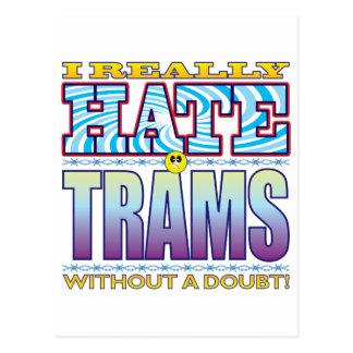 Cara del odio de las tranvías postal