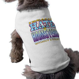 Cara del odio de los hámsteres camiseta sin mangas para perro