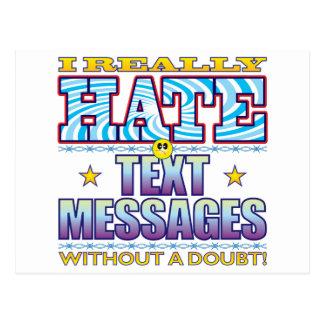 Cara del odio de los mensajes de texto postal