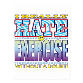 Cara del odio del ejercicio postal