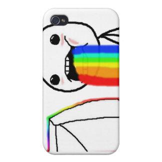 Cara del ordenador del arco iris iPhone 4 funda