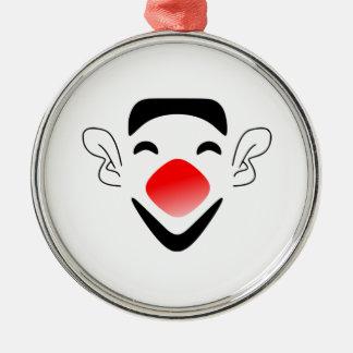 Cara del payaso del dibujo animado ornamento de navidad