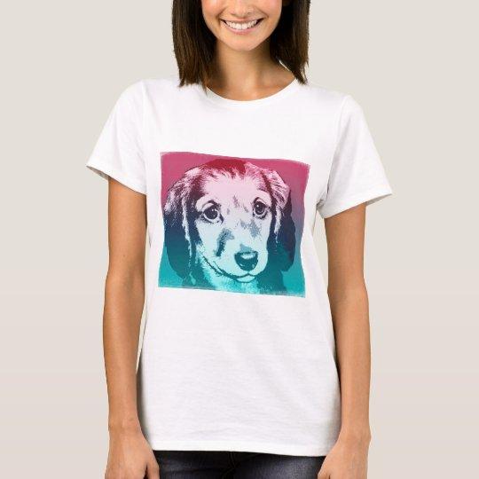 Cara del perrito camiseta