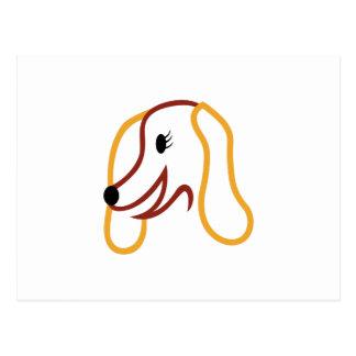 Cara del perro postal