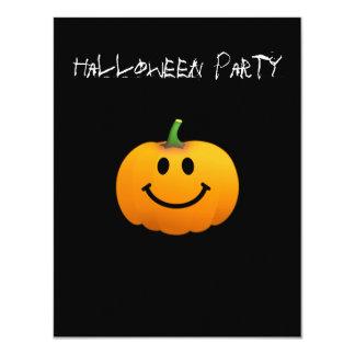 Cara del smiley de la calabaza de Halloween Invitación 10,8 X 13,9 Cm