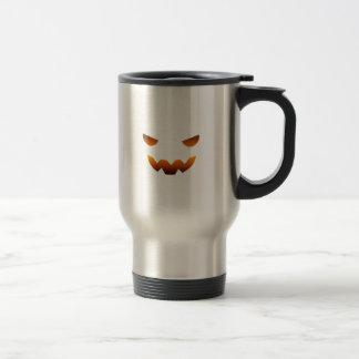 Cara del smiley de la calabaza de Halloween Tazas