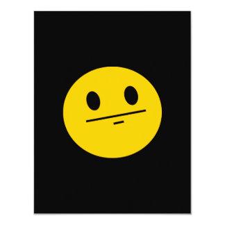 Cara del smiley de la cara de póker invitación 10,8 x 13,9 cm